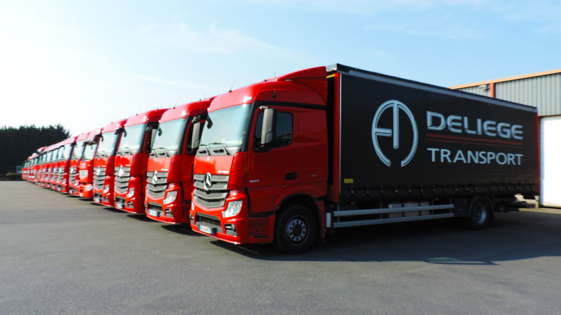 Camion transport deliege